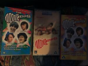 3 x The Monkees VHS Cassettes - Originals -