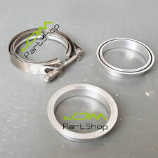 """1.75/"""" Stainless V-Band Clamp Flanges-billet Flanges Stainless Nylock nut"""