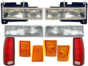 For CK Pickup Suburban Blazer Tahoe Yukon Headlamp Corner Signal Tail Lights Set