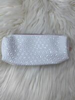 Anastasia Beverly Hills White Makeup Cosmetic Bag ~ Brand New !!