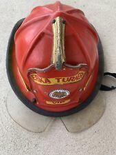 Vintage Eye guard Cairns & Brother Leather Fireman Helmet Hat Erika Turner VIP