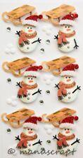 Artoz Artwork 3D-Sticker, Schlitten, Schneemann, Winter Weihnachten