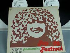 Pop Nachwuchs-Festival'78 (Deutschrock) 2 LP  Promo-LP!! D-1979 Phono-Akademie