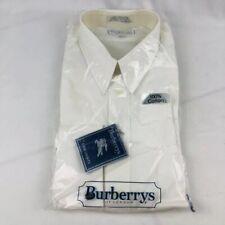 Men's Vintage Burberrys Of London Dress Shirt White Cotton Size 16.5 - 36