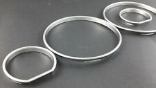 BMW E34 CHROME INSTRUMENT GAUGE RINGS DASH TRIM
