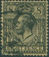 Great Britain 1912 SG391 8d black/yellow-buff KGV FU