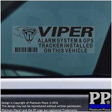 5x VIPER segnalatore GPS-Adesivi di sicurezza di allarme-Nero-Tracker Segnali di avvertimento