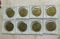 Clearwater Florida FL Jolley Trolley Set of 8 Transportation Tokens