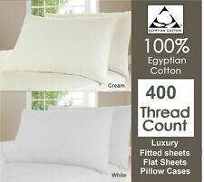 100% Egyptian Cotton 400 Thread Count Hotel Quality Duvet Cover Set / Sheet