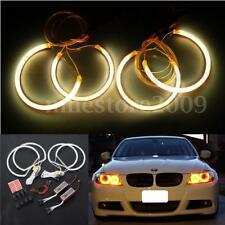 4 pcs CCFL Angel Eye Halo Light Non-Projector Yellow E-Code For BMW 3 Serie E46