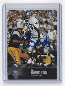 1997 RAIDERS Ben Davidson signed card #96 Upper Deck AUTO Autographed Oakland