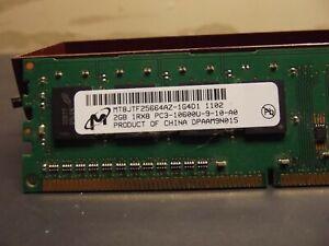 Micron 4GB, 1Rx8, PC3-10600U-9-10-A0, MT8JTF25664AZ-1G4D1, 2 x 2 gig cards,