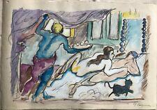 PAUL CEZANNE - Watercolor on original 19th century paper