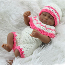 """10"""" Full body Silicone Girl African American Reborn Baby Dolls Gift Anatomically"""