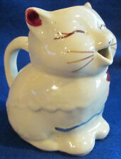 """USA Made Puss 'n Boots Hand Painted Shawnee Pottery 4 3/4"""" High Creamer"""