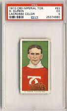 D. DURKIN 1910-11 C60 Imperial Tobacco Lacrosse #82 PSA 5 Tecumseh RARE LOW POP