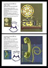 Island 658/9 Maximumkarten 80 Jahre Telefon auf Island
