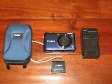 Canon PowerShot A2200 HD 14.1MP Digital Camera w/ Battery Charger & Carry Case