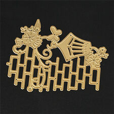 Gold Metal Wall lamp Cutting Dies Stencil DIY Scrapbooking Diary Template Decor