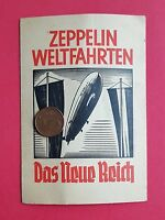 Bilder Reklame Karte Zigaretten ZEPPELIN Weltfahrten Ankündigung Buch  ( 29363