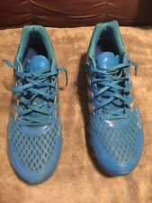 """ADIDAS Men's """"Springblade"""" Blue Techfit Running Shoes Size 12, Pre Owned"""