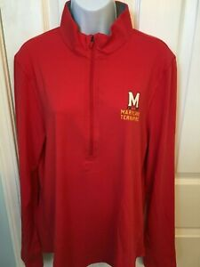 Maryland Terrapins Womens Under Armour Charged Cotton Pullover Shirt - XL - NWT