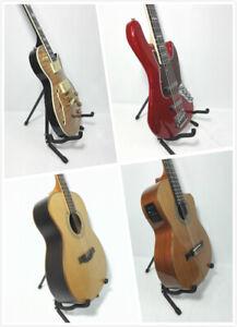 Portable Haze HS-J8 Foldable Metal & Rubber Structure Guitar Stand, Black