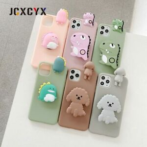 3D Luxury cute cartoon Soft silicone phone case for iPhone