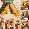 Casual Women Outwear Sandals Flats Slip On Slides Slipper Summer Beach Shoes USA