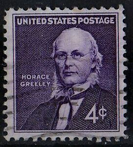 US 1961 Scott # 1177 Horace Greeley Publisher and Editor 4 Cent STAMP