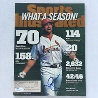 Vtg Mark McGwire Signed Sports Illustrated magazine JSA Certified 1998 Autograph