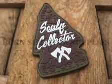 SCALP COLLECTOR ARROWHEAD PATCH - Morale Axe Tomahawk Wild West Moeguns Badge