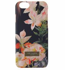 Ted Baker Salso Slim Hard Case Cover iPhone 6s 6 - Matte Black/Flowers/Orange