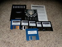 "Darkseed & Darkseed v1.5 Update Disk IBM Version 3.5"" disks with manual & hints"