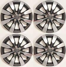"NEW TOYOTA COROLLA MATRIX 16"" 8-spoke CHROME & BLACK Hubcaps Wheelcover SET"