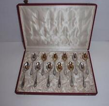 (12) Bruckmann & Sohne of Germany 800 Silver Demitasse Spoons w/Original Case