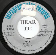 Deep Purple HARD ROCK 45 (Tetragrammaton 1503) Hush /One More Rainy Day