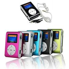 MINI LETTORE MP3 PLAYER CLIP USB CON DISPLAY LCD SUPPORTA 32GB MICRO SD FM RADIO