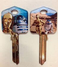Star Wars R2-D2 C-3P0 Blank Key fit Yale 1A/U6D/UL2 Dark Side R2 D2 C 3PO