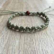 Shell Key Olive Hemp Anklet