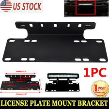 Front Bumper License Plate Mount Bracket LED Light Bar Holder Offroad Jeep SUV
