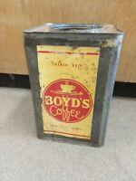 ×RARE× Vintage Boyd's coffee 20 lb tin can