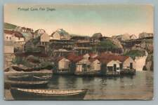 Portugal Cove~Fish Stages TORBAY Newfoundland STAMP Antique Ayre Postcard 1911