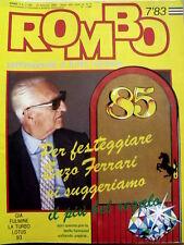 ROMBO n°7 1983 Lotus John Player Special 93T De Angelis Nigel Mansell  [P26]