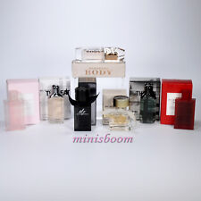 BURBERRY Lot of 7 Mini Perfume Miniature Bottle for Woman and Men New in Box