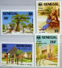 SENEGAL 1984 809-12 609-12 SOS Children´s Village Kinderdorf House MNH