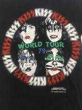 Genuine RARE Vintage KISS 1979 World Tour T-shirt  Made In USA Small EUC