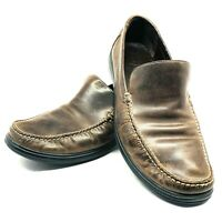 Cole Haan Men's Brown Leather Loafers Slip On Shoes Size:12M