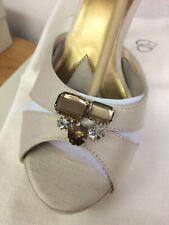 Jen+Kim by Coloriffics Passion Creme Silk Crystals Brides Closed Sandal 9 M