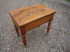 Meuble bidet bois merisier/coffre/table/tablette/Louis Philippe/pieds Jacob